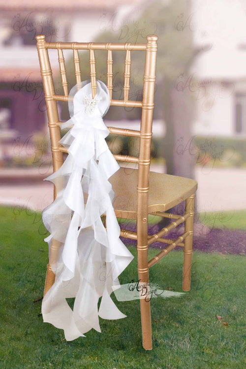 Sheer White Curly Willow Chair Accent