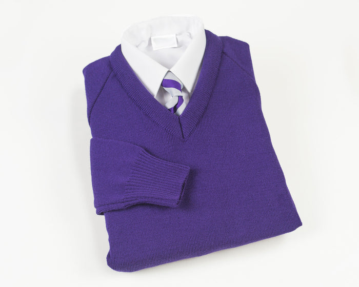 Purple V neck