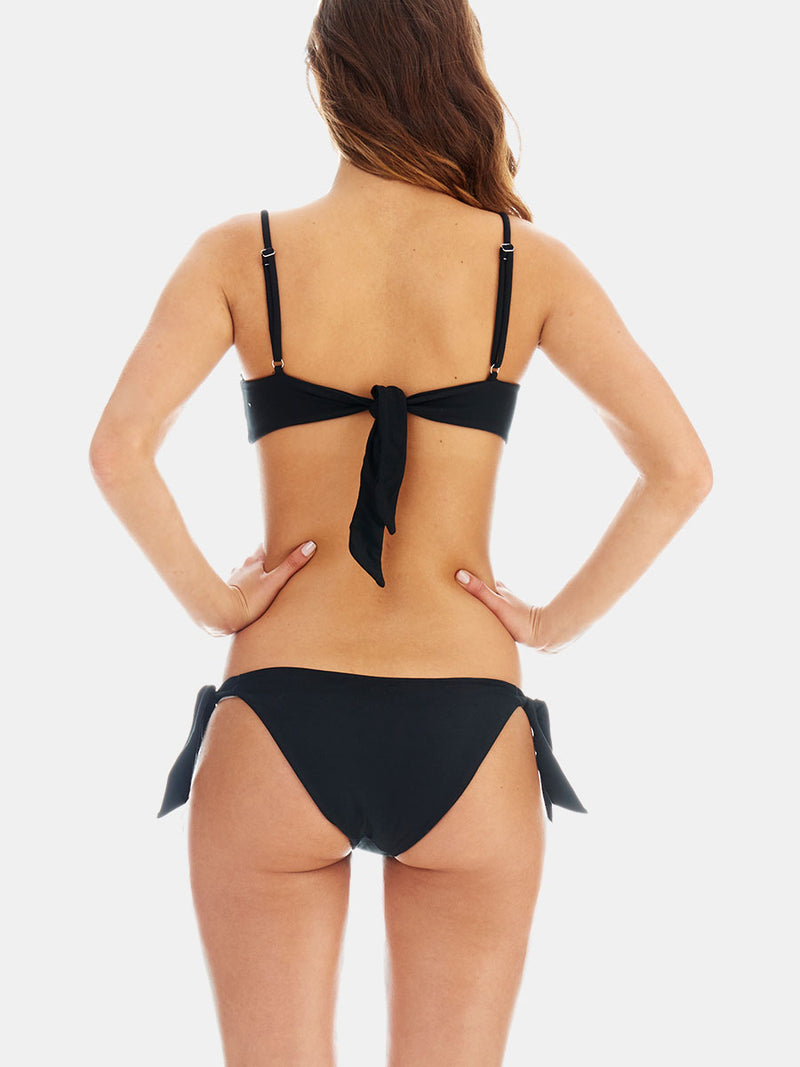 Side tie bottoms - Black