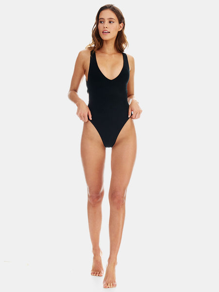 Ties One piece swimsuit in Black by RH Swimwear