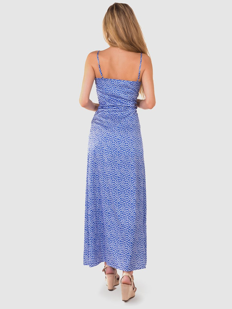 Maxi dress in blue floral