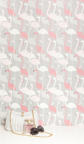 Flamingo Dance Wallpaper