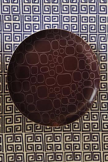 "Laminated Pebble 14"" Round Tray"