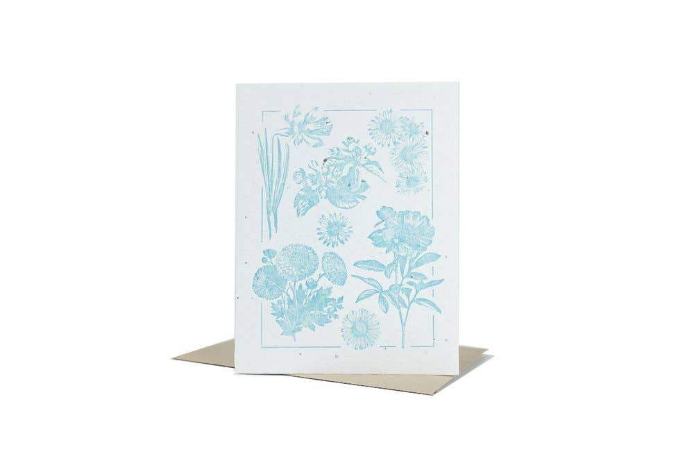 Blue Plantable Greeting Card