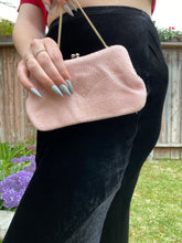 Load image into Gallery viewer, Pink beaded clutch
