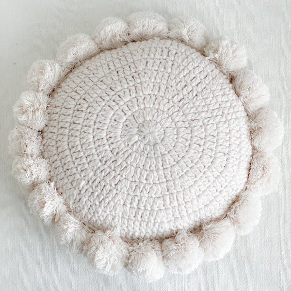 Indie Round Pillow Ivory