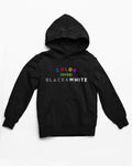 Color Over B&W Hoodie Kid