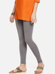 Women Grey Solid Ankle-Length Leggings