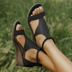 SHOE CRAFT Black Colour Women's & Girls' Fashion Sandal