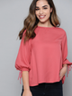 Women Pink Solid A-Line Top