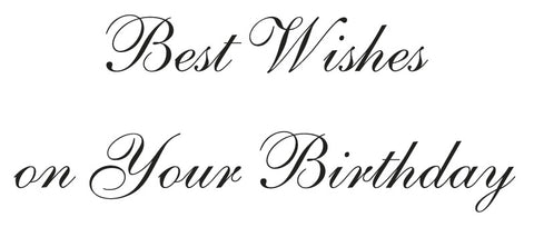 Birthday Wishes Greeting Card Sentiment