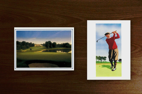 Blank golf note cards