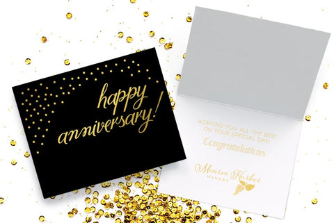 Business anniversary cards with your company logo