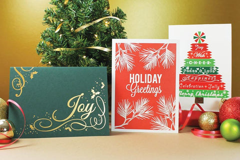 Business Christmas greeting cards with company logo