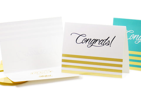 Business congratulations cards with company logo
