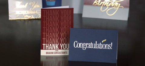 Collection of business greeting note cards