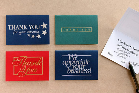 Business thank you cards with your company logo