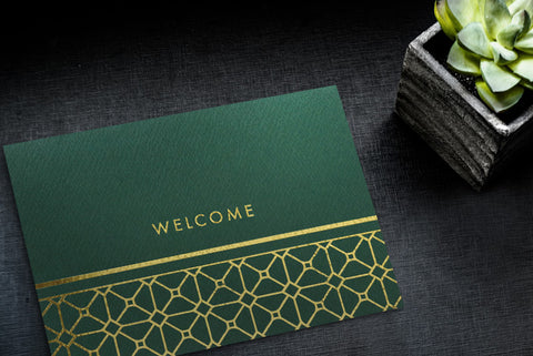 Business Welcome Cards with Company Logo