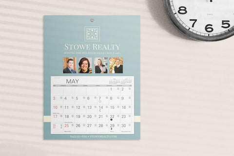 Promotional wall calendars made out of cardboard