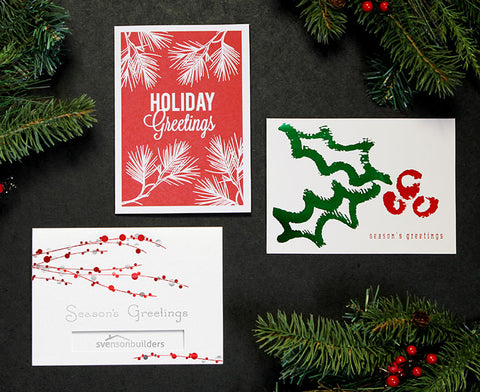 Business Christmas Cards with Company Logo