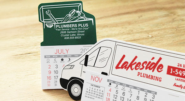 Promotional calendars for contractors, electricians, HVAC, plumbers