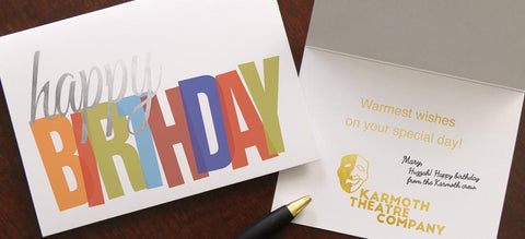 Custom business birthday greeting cards for clients and employees