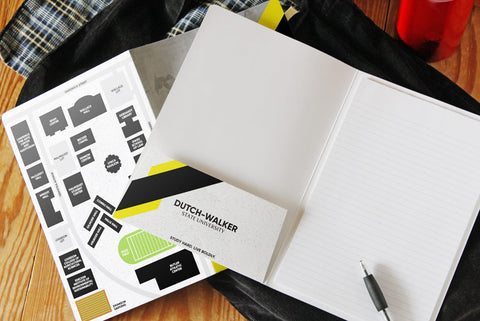 Custom printed promotional padfolio with card stock cover