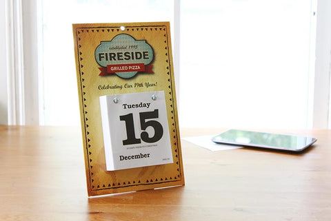 Branded daily date calendars