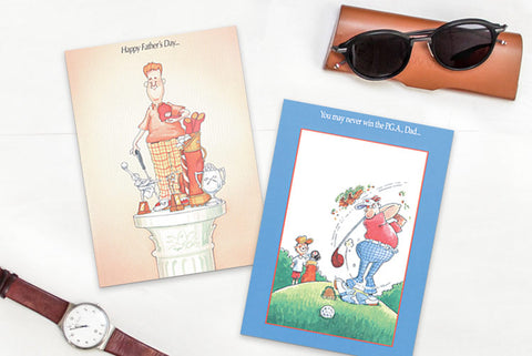 Funny Fathers Day Golf Greeting Cards
