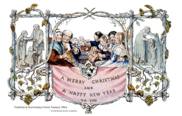 The first Christmas card from 1843