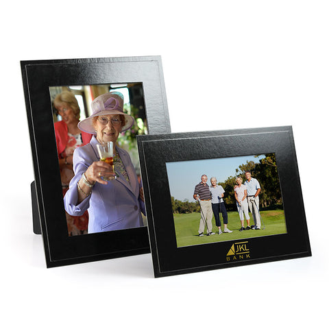 Black cardboard picture frame for golf tournaments