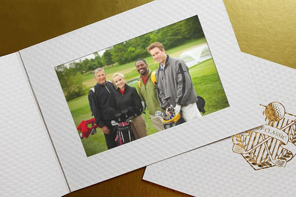 Golf photo folder for golf tournament pictures