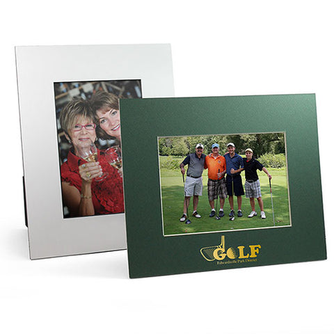 Mat board golf tournament picture frames with logo