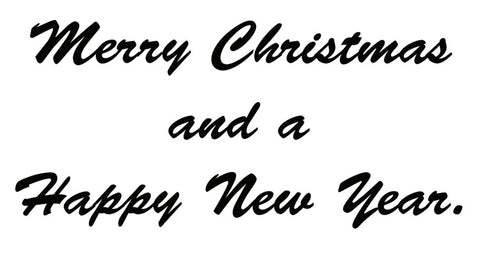 Merry Christmas, Happy New Year Sentiment for Business Holiday Card