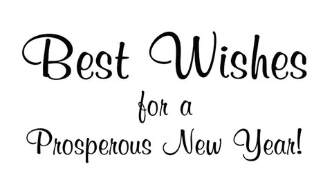 New Year Best Wishes Holiday Card Sentiment for Business Greeting Cards