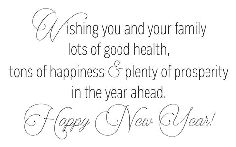 Happy New Year Company Holiday Card Sentiment