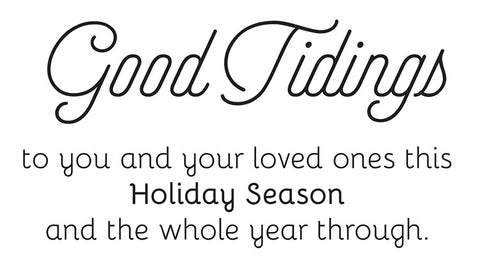 Good Tidings Holiday Greeting Card Sentiment for Company Christmas Cards
