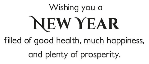 New Year Greeting Card Sentiment
