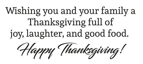 Happy Thanksgiving Sentiment for Business Holiday Greeting Cards