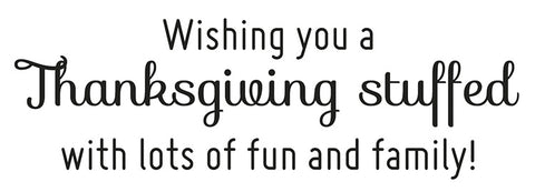 Wishing a Happy Thanksgiving Greeting Card Sentiment