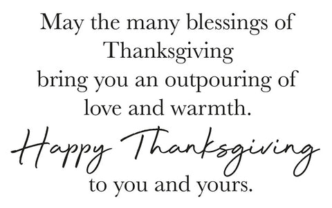 Happy Thanksgiving Greeting Card Sentiment