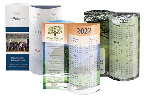 Pop-out promotional calendars printed in full color