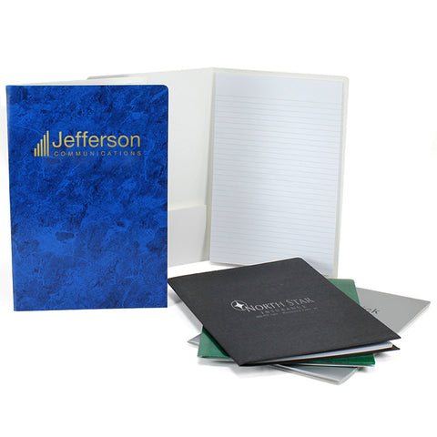 Foil stamped promotional padfolios
