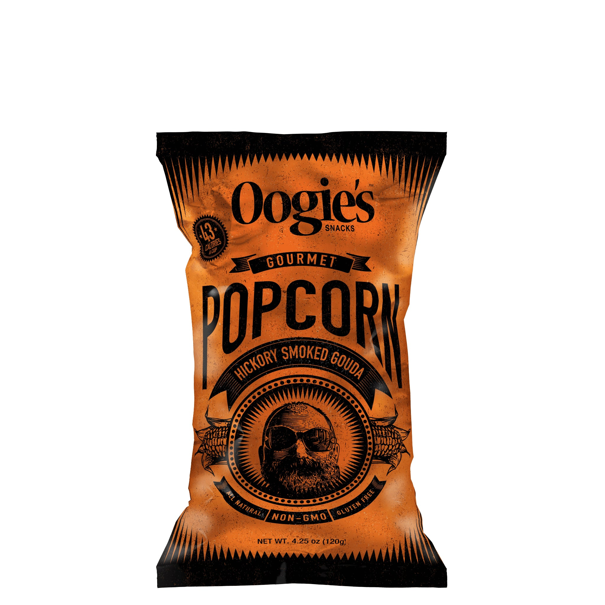 Hickory smoked gouda popcorn bag