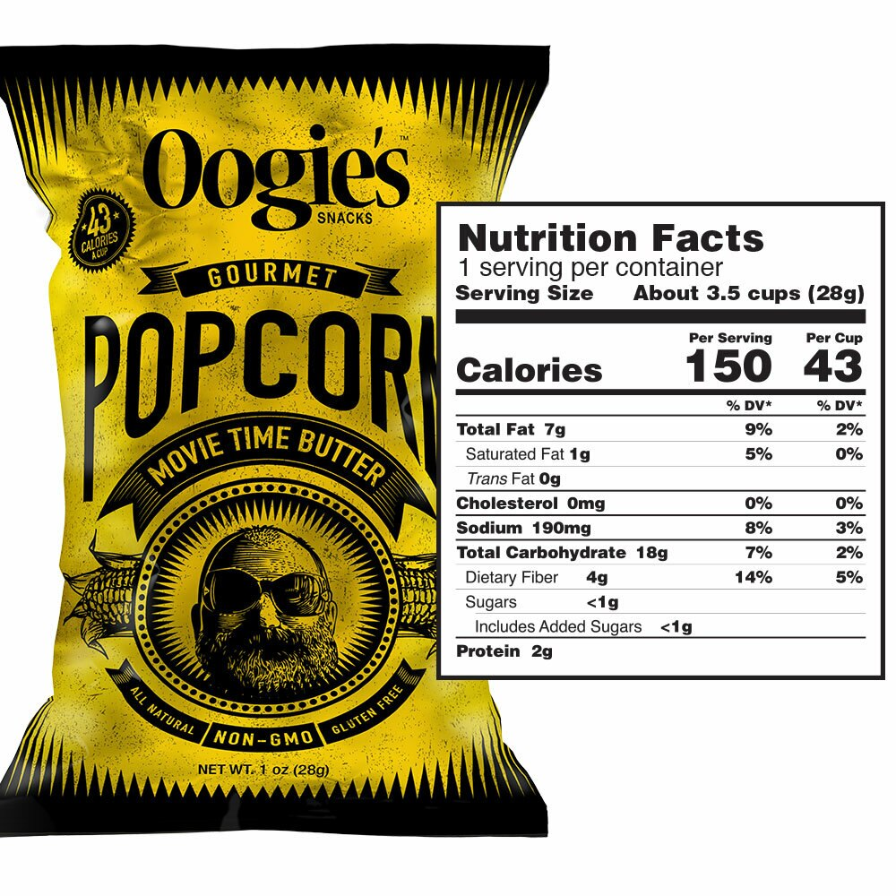 Movie time butter popcorn nutrition facts