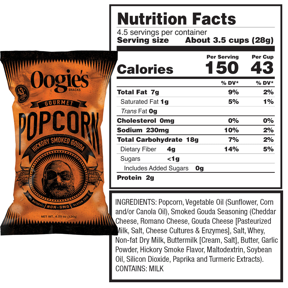 Hickory smoked gouda popcorn nutrition facts