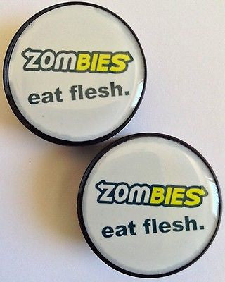 24 mm Zombies Eat Flesh Plugs