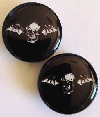 20 mm Skull with Wings Plugs