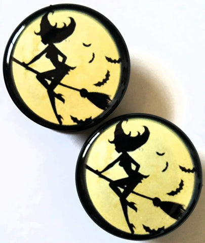 Silhouette Witch Plugs