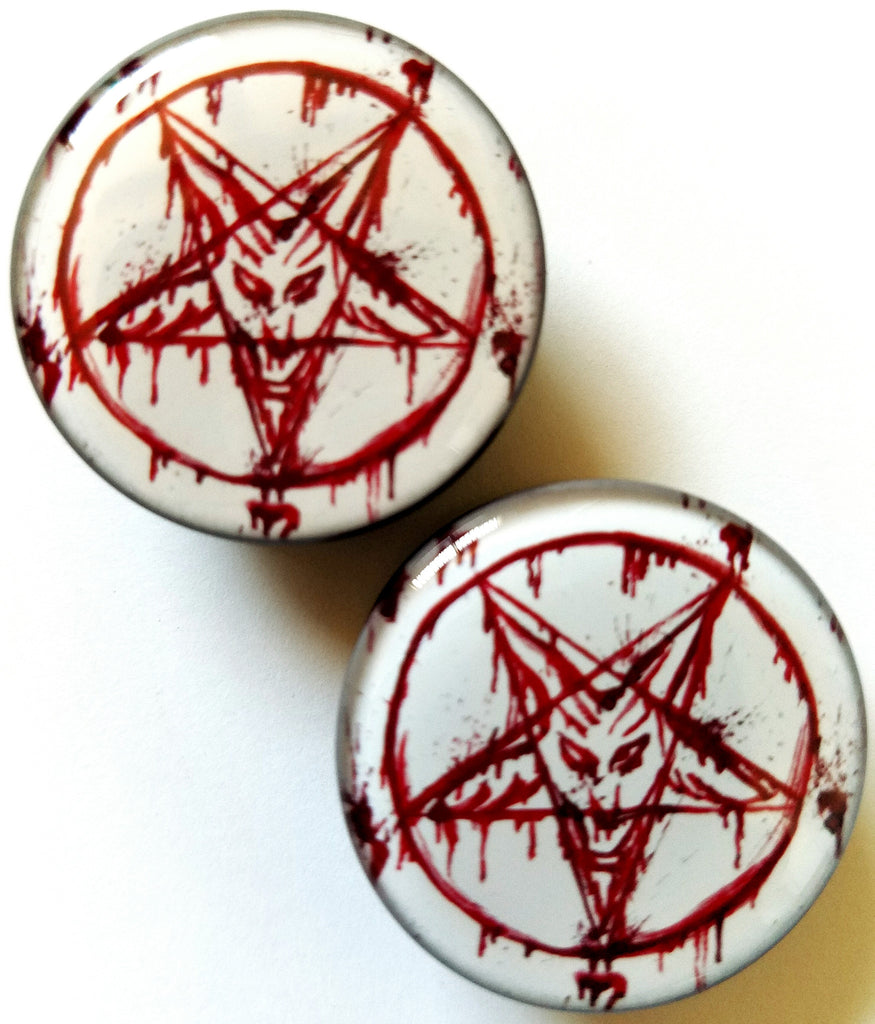 Bloody Pentagram Plugs